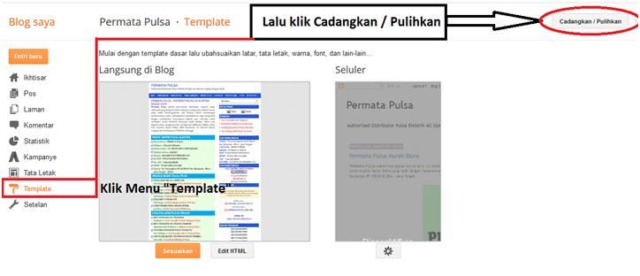 upload template web pulsa