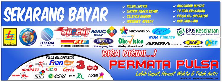 Download Spanduk Jual Pulsa Elektrik dan Loket Pembayaran